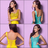 Crystal Beads Ruffle Style: Sexy Trends: Backless Crystal/Beading Neckline: One-Shoulder Dress