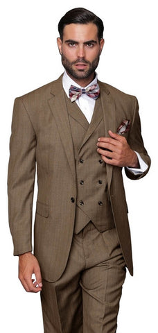 3 PC HIGH FASHION MEN 2 BUTTON DRESS SUIT. 10% Off Your Entire Order At Checkout.