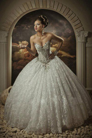 Cathedral Wedding Gowns Crystals 2015 Wedding Dresses