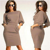 Plus Size  Women Work And Club Dress, 10% Off And Free International Shipping