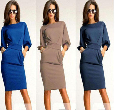 exceptional range of styles popular brand genuine Plus Size Women Work And Club Dress, 10% Off And Free International Shipping