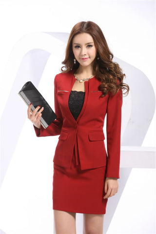 Newest Spring Professional Business Women Work Wear Skirts Suits