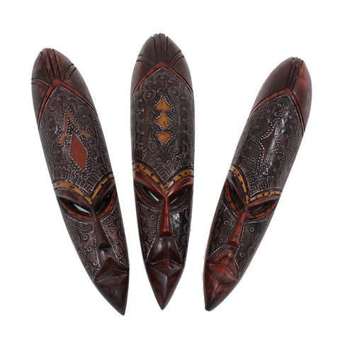 Medium Ghana Fang Mask - Metal/Wood, Delivery In About 8 Days.