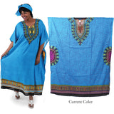 African Traditional Print Kaftan, Free Shipping USA Only