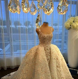 Luxury Full Lace Ball Gown Wedding Dress Delivery In About 28 Days