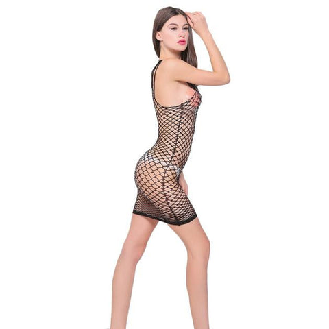 Sexy Womens Mesh Lingerie Babydoll Dress Underwear Sleepwear Dress BK