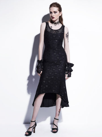 Black Lace Sleeveless Women's Sheath Dress