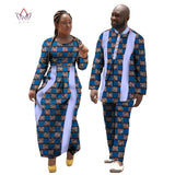 Women and Men african wedding clothing dashiki Two Set Couples Long Sleeve Clothes women party dress plus size 4xl 5xl 6xl WYQ11