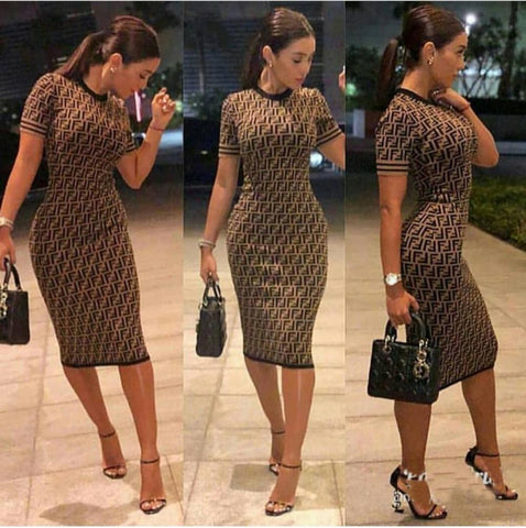Hot Sale Back Split Women Work Wear Elegant Stretch Dress