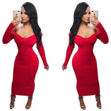 Knitting Dress New Autumn Winter Women Nightclub Dress