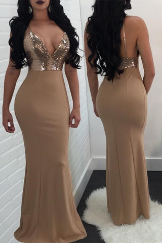 Club And Party Dress Sequins And Panelled Long Dress,