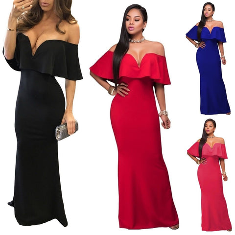 Formal Pleated Off The Shoulder Maxi Dress, Delivery In About 18 Days
