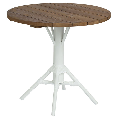 "Sika Design 31.5"" Nicole Cafe Table w/ Round Teak Tabletop"
