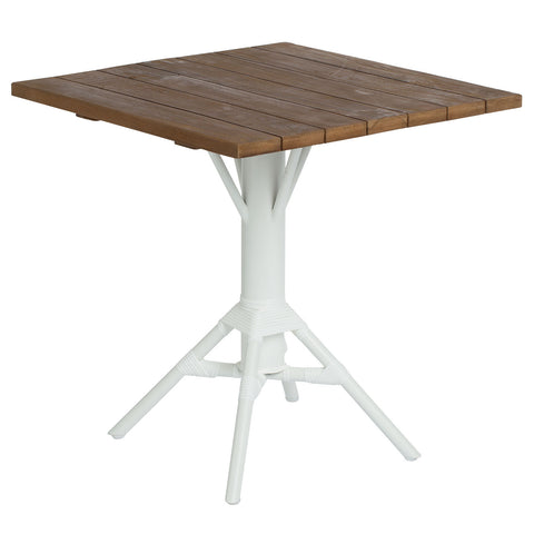 "Sika Design 27.56"" Nicole Cafe Table w/ Square Teak Tabletop"