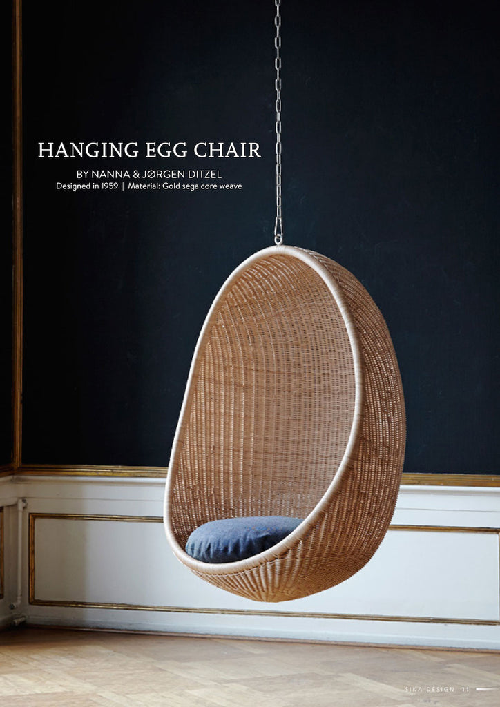 Sika design nanna ditzel hanging egg chair sika design usa for Suspended egg chair