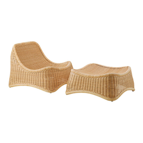 Sika Design Nanna Ditzel Chill Lounge Chair & Footstool
