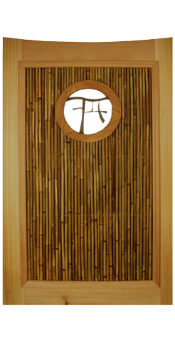 Zen Wood Garden Gate