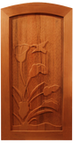 Calla Lily Wood Entry Gate
