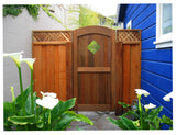 Archtop Wood Gate with Diamond Cutout