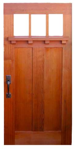 Craftsman Style Wood Entry Gate