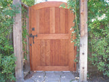 This is gate P-20 made from clear Redwood it has a Bronze double thumb latch with a dead bolt