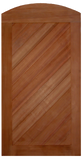 Diagonal Grain Solid Wood Archtop Garden Gate