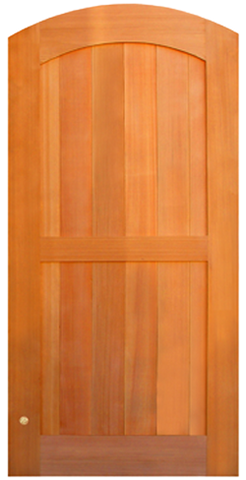 Double Panel Archtop Wood Garden Gate