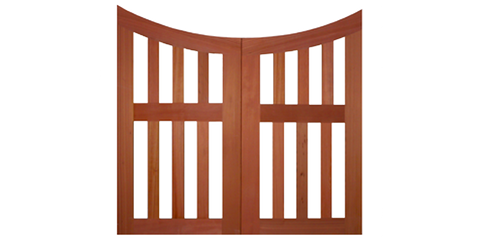 Double Slatted Pagoda - Wood Garden Gates