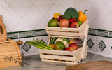 2 tier Vegetable rack small Angled