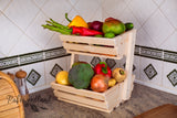 2 tier Vegetable rack medium  Angled