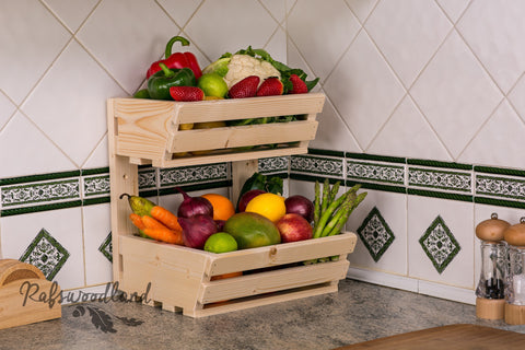 2 tier Vegetable rack Wall Mountable Classic