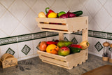 2 tier Vegetable rack wall mountable Simple