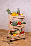 3 tier Vegetable rack on the wheels