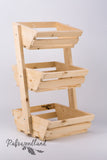 3 tier Vegetable rack Angled