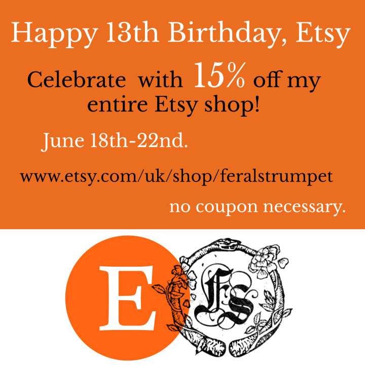 CELEBRATING ETSY'S 13TH ANNIVERSARY