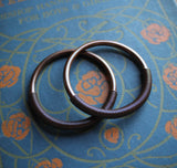 Copper Tesla Hoops in 4g or 6g. Large Gauge Ear Weight Threaders.