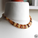 Freya's Collar.  Vintage Natural Baltic Amber Bib Collar Statement Necklace.