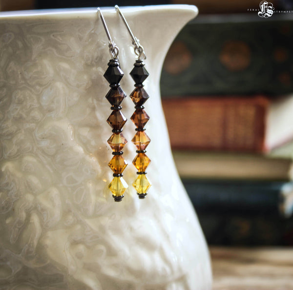 Ombre Beer Flight Earrings for the Glam Craft Beer Fan. Beer Brewing Homebrewing