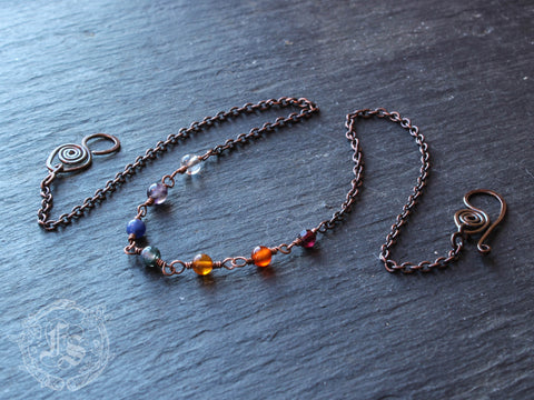 Delicate Rainbow Chain Necklace in Copper. Bifrost.