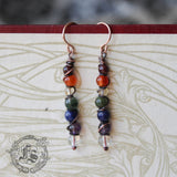 Bifrost Wands. Rainbow Chakra Stone Earrings.
