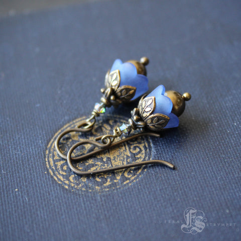Forget Me Not Earrings. Blue Fairy Flower Earrings.