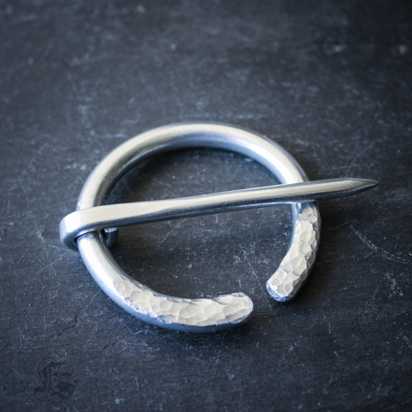 Anglo Saxon Fibula Brooch in Aluminum for Extra Bulky Knits.