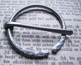 Anglo Saxon Fibula Brooch in Aluminum for Bulky or Chunky Knits