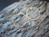 Meridian Studs. Circle Hoop Post Earrings in Sterling Silver.