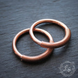 Mini Tesla Hoops in Copper. 4g. 6g. 8g. 12g. Small unisex ear weights. Hangers.