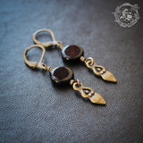 Dark Moon Goddess Earrings.  Small Everyday Witch Earrings.