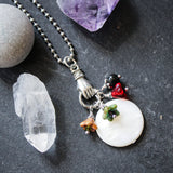 Witches Flying Ointment Necklace. Botanical Hedge Witch Jewelry.