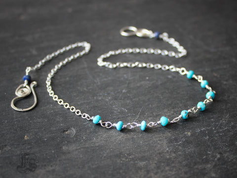 The Gerd in Sleeping Beauty Turquoise and Sterling with Lapis Lazuli.