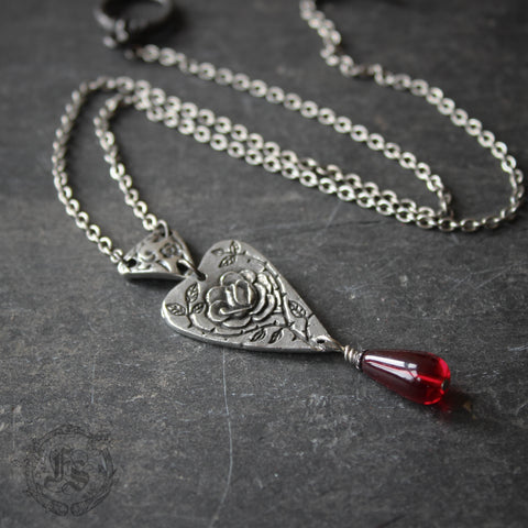 The Briar Rose Heart Necklace.