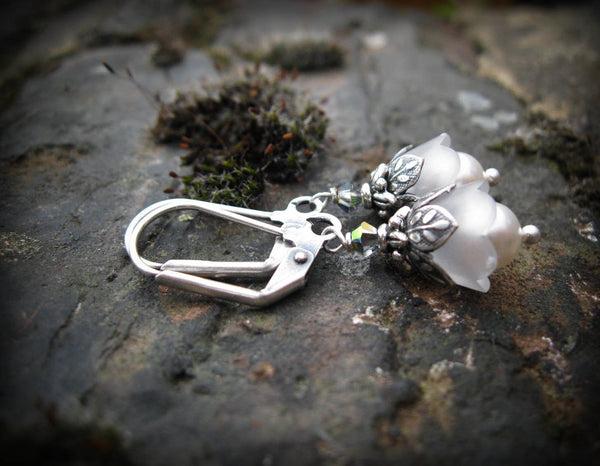 Snowdrop Fairy Flower Earrings